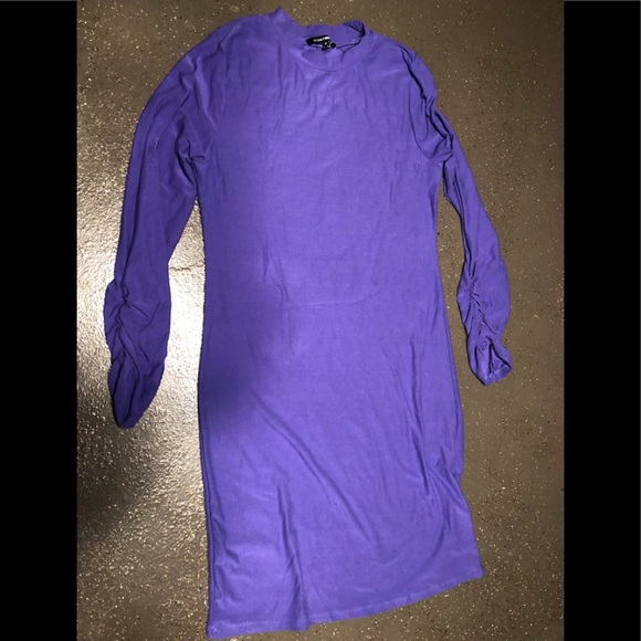 Fashion Bug Dresses & Skirts - Purple dress with ruched sleeves